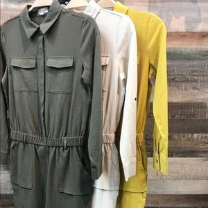 Jumpsuit - Color beige and yellow
